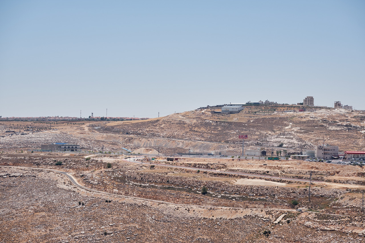 Looking towards settlements from Psagot Winery.