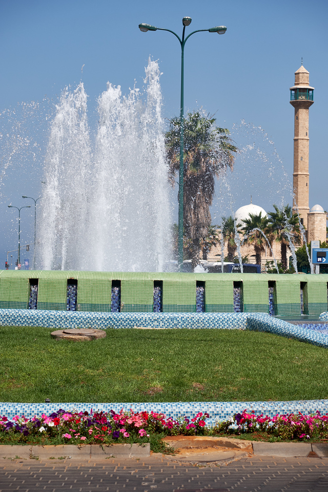 Hassan Bek Mosque and fountain across from David Intercontinental Hotel.