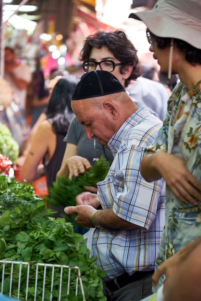 Shabbat shopping in Carmel Market.
