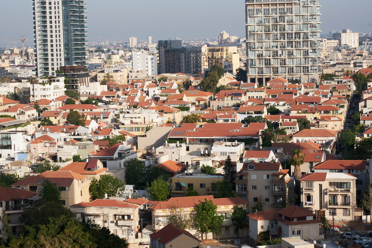 View of Tel Aviv from my room.