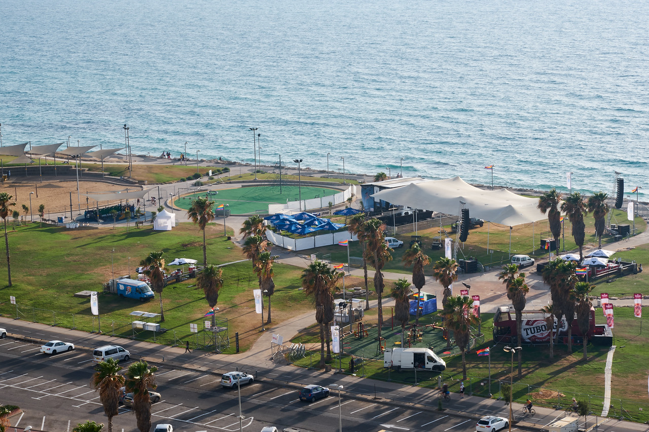 View of Mediterrean from my room.