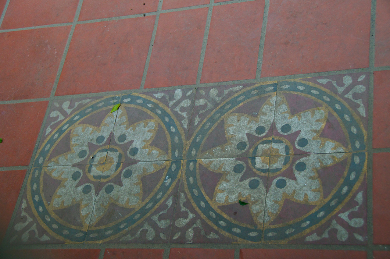 Original Tiles (Commonly Used 1880-1930s)…Seen in Many Courtyard in This Area