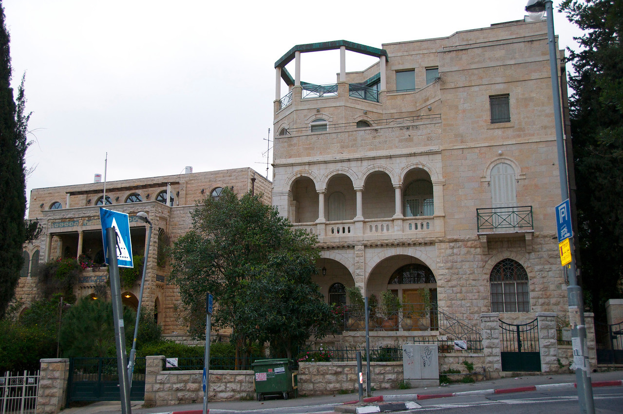 Home of Rueben Mass, Publisher (member of Haganah)…Right Side of House was Added to Left Side