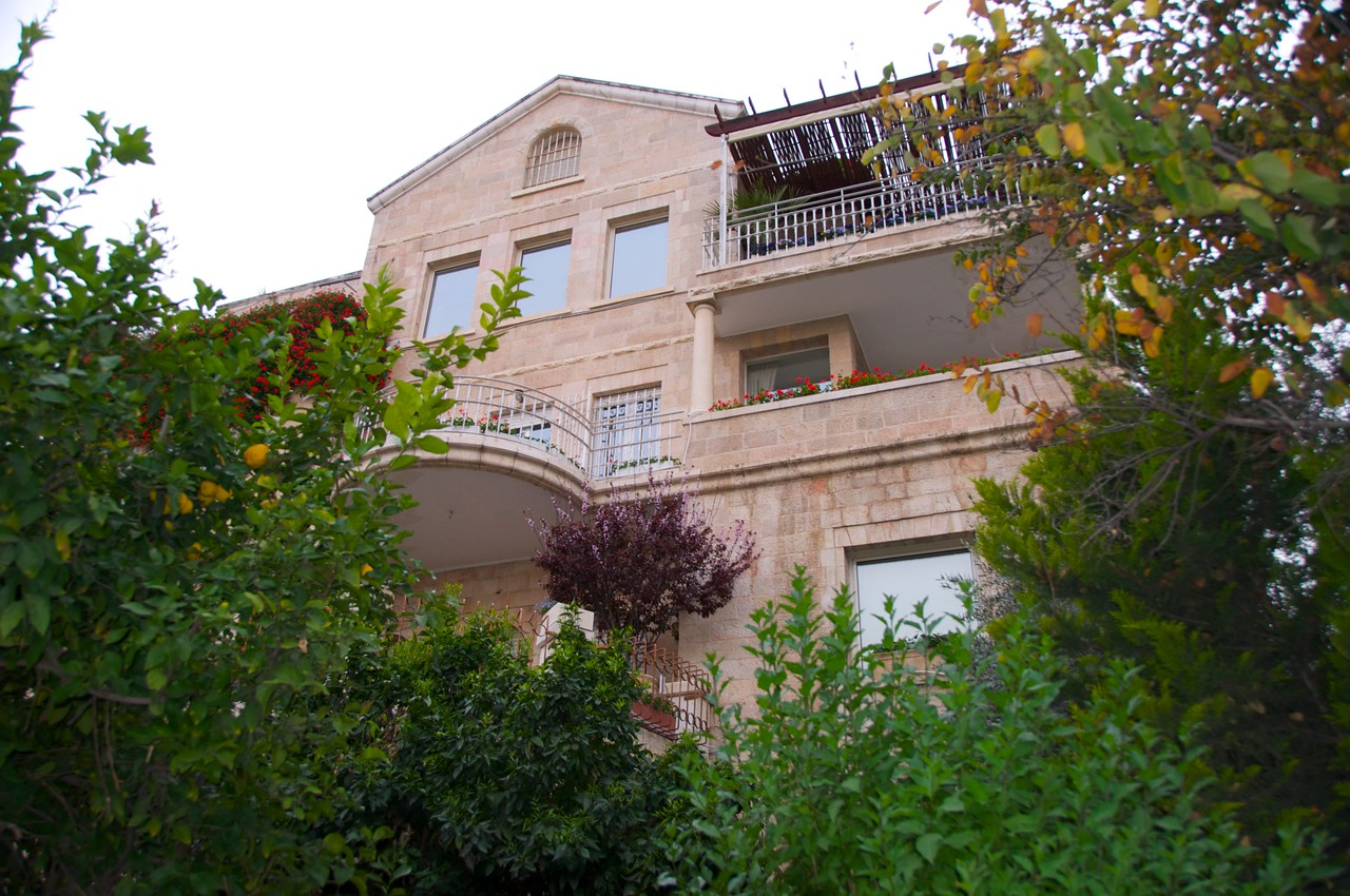Different Look at The House…Talbiya is an Upscale Neighborhood in Jerusalem Very Near Inbal Hotel