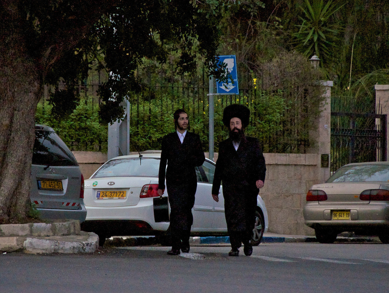 Locals in The Area Out On Shabbat Afternoon