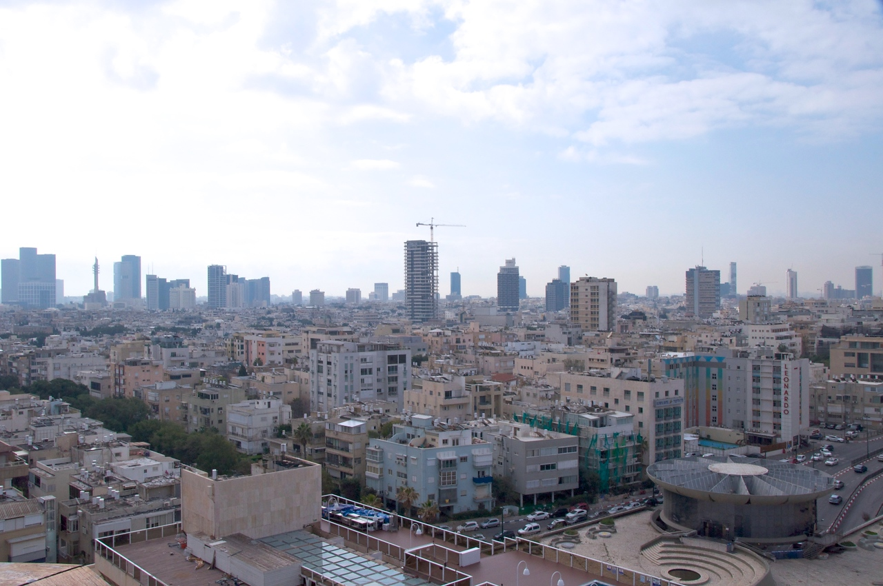 View of Tel Aviv from Roof Top of The Carlton Hotel
