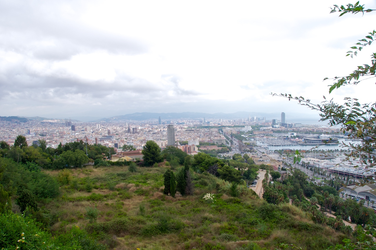 Barcelona From Top of Montjuic Near Cable Cars…Grass Platform Was The Jewish Cemetery… Petition Granted to Preserve The Area…Will Take Longer to Get Permission to Create A Memorial