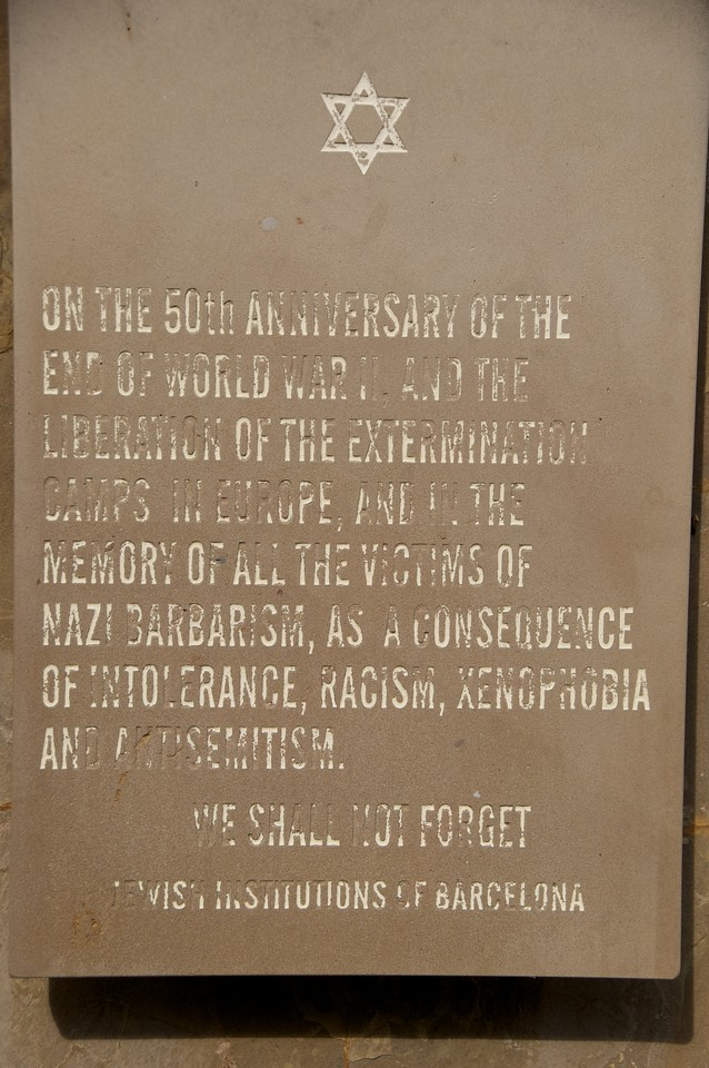 Sign at Holocaust Memorial