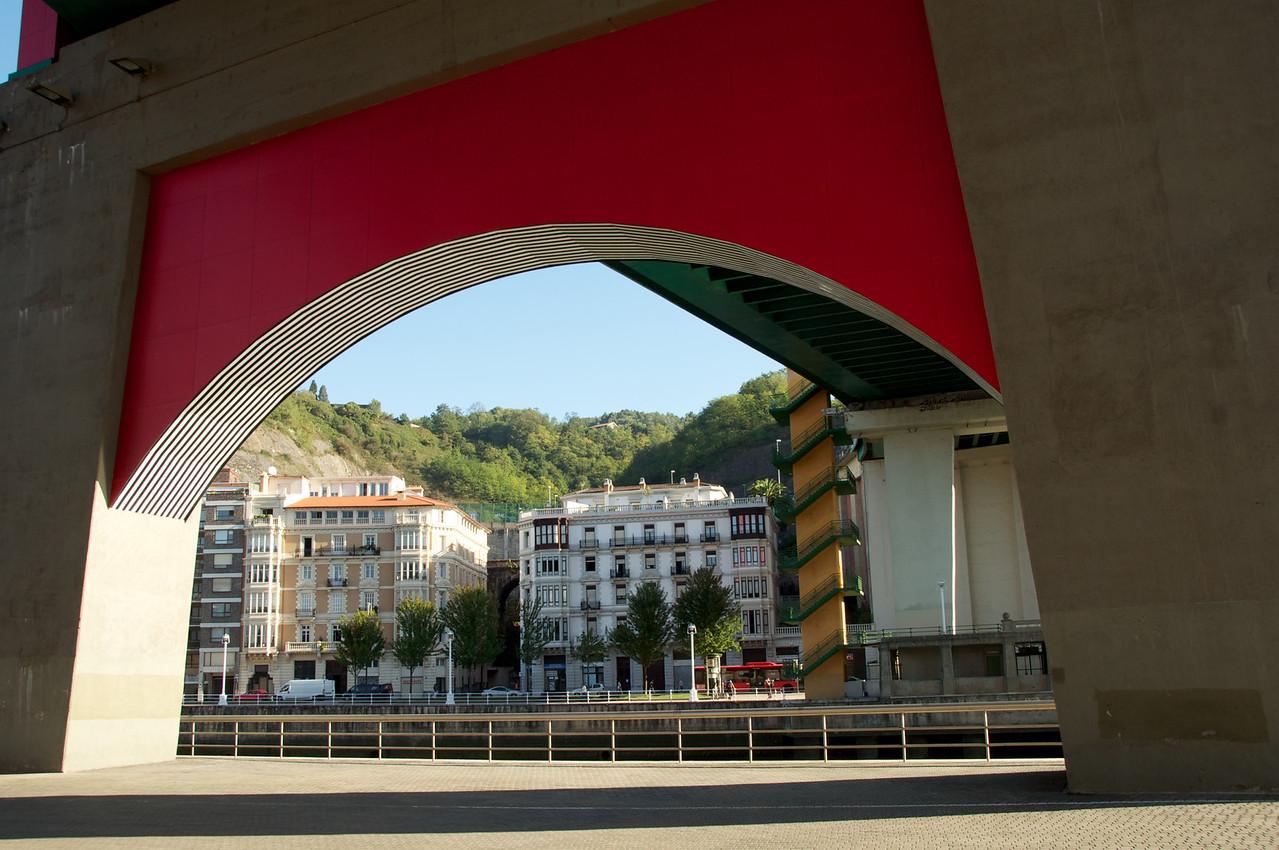View From Underneath La Salve Bridge En Route To Guggenheim