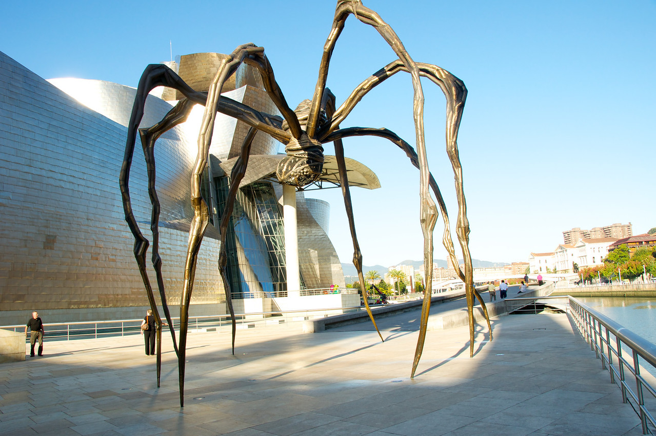 Guggenheim and Maman by Louise Bourgeois