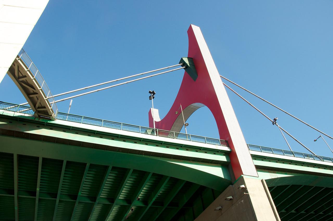 La Salve Bridge (Vehicles) Next to Guggenheim Museum