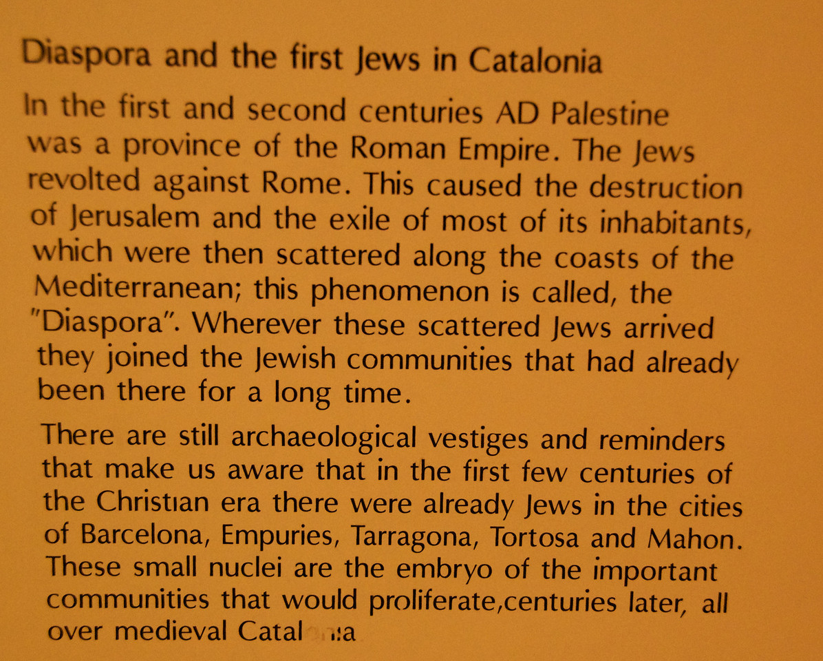 Diaspora and The First Jews in Catalonia