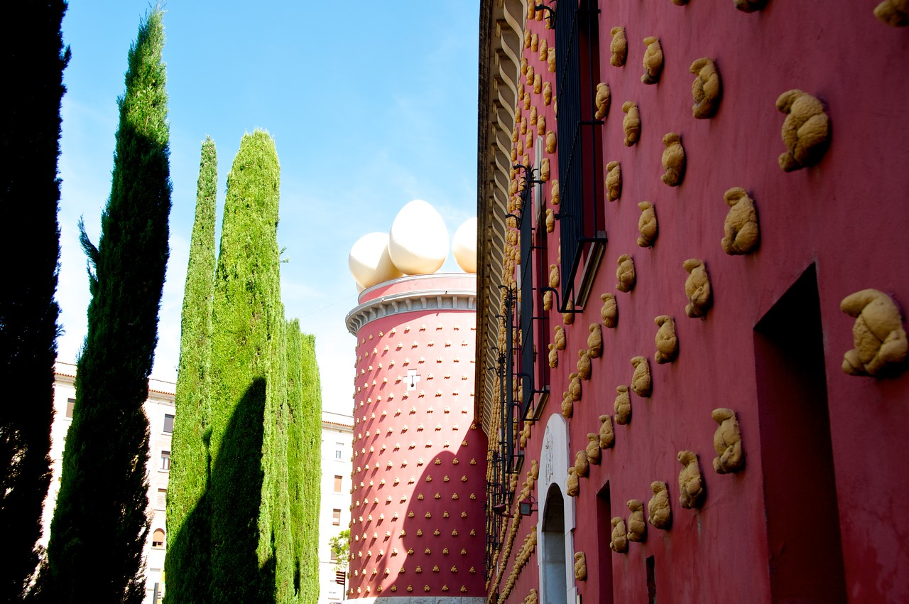 Outside of Dali Museum in Figueres
