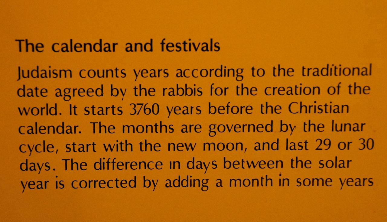 The Calendar and Festivals