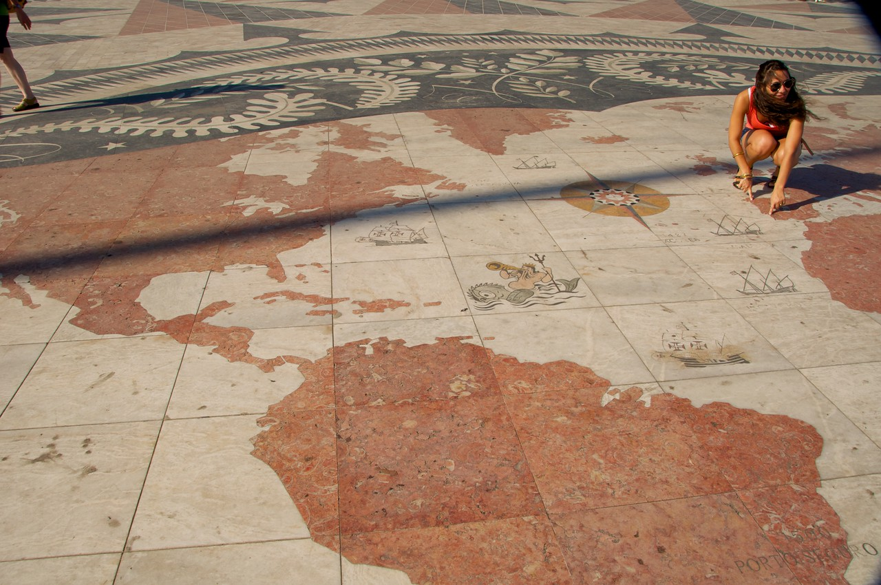 Map of The World at Monument of Navigators