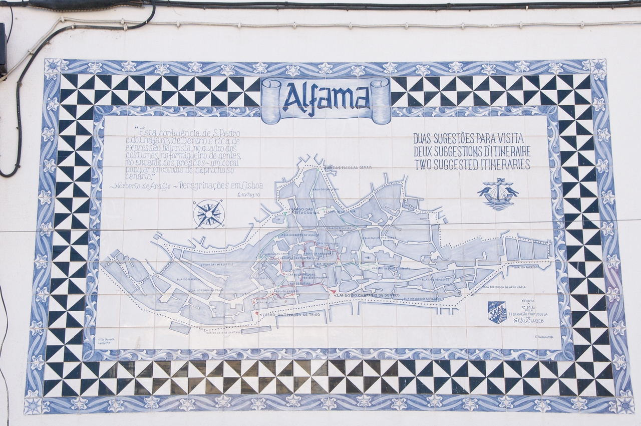 Rua Da Judiaria is in Alfama Area…Example of Tile Work