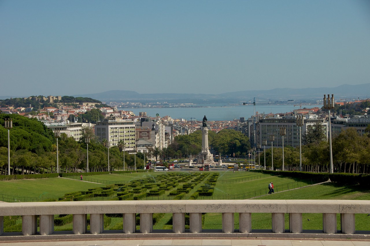 Another View of Edward VII Garden to Pombal Monument to Targus River