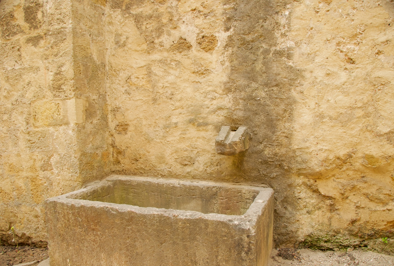 One of The Many Water Fountains and Storage Urns