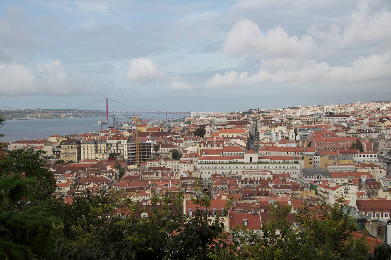 View of Lisbon from Castle of St  George