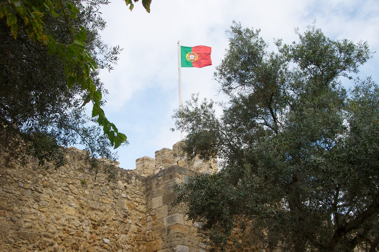 Portuguese Flag from One of Castle Courtyards