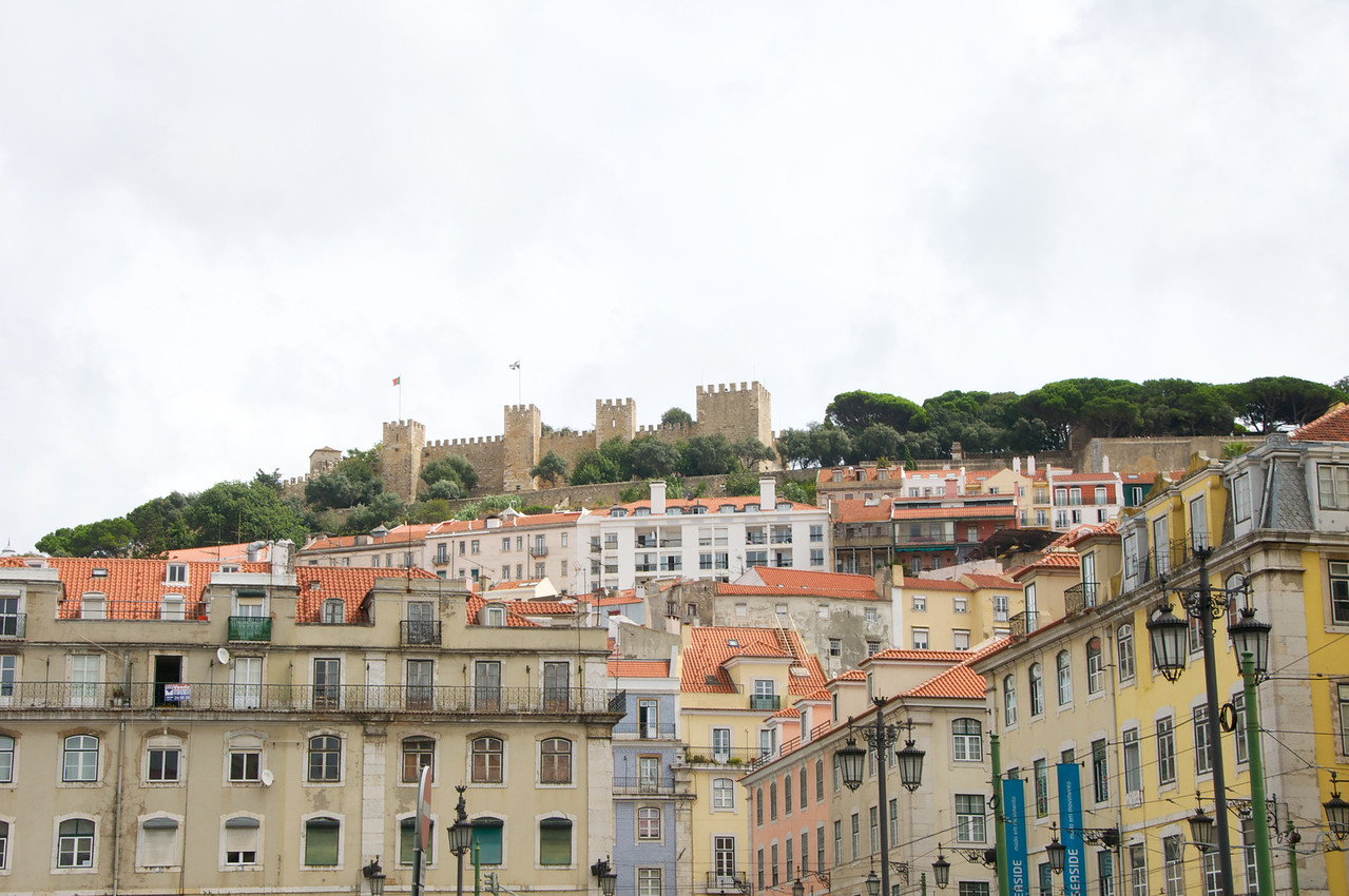 Castle of St  George from Rossio (Downtown)