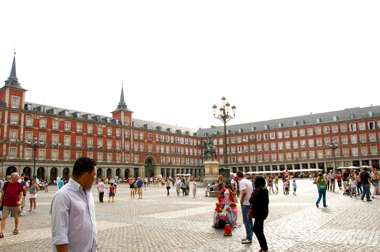 """Plaza Mayor…477 Apartments Around Plaza…Bull Fights Held Here and Inquisitions Proving """"False Christians"""""""
