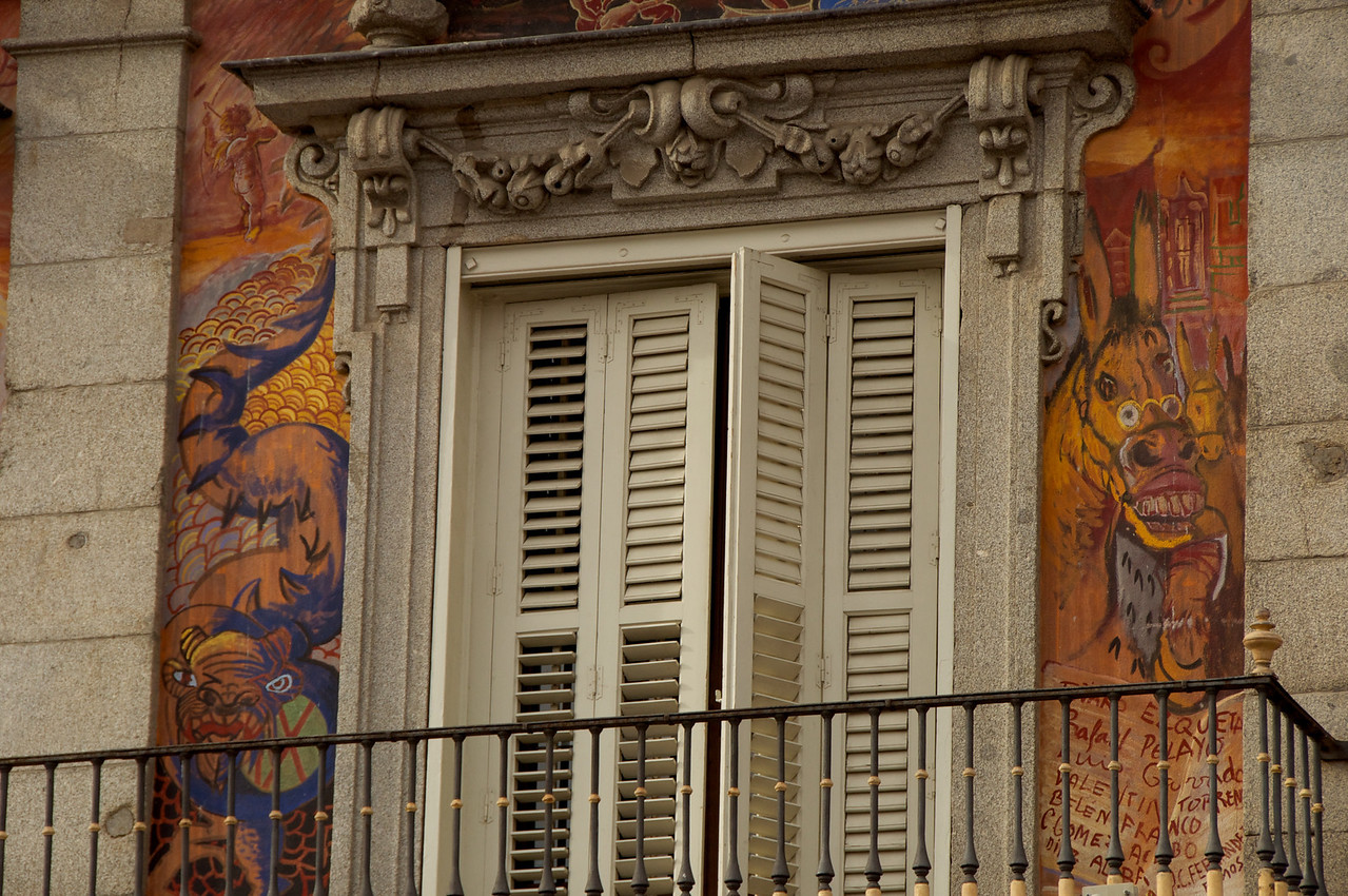 Closer Look At Paintings on Facade