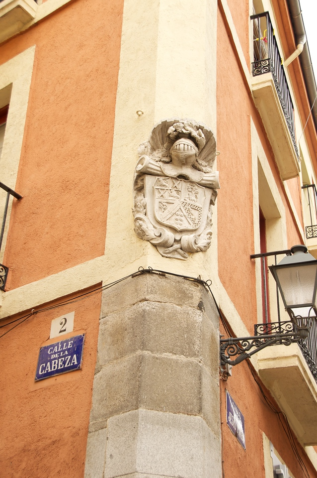 Building Near Plaza Mayor…Crest Indicates a Family of Nobility Once Lived There
