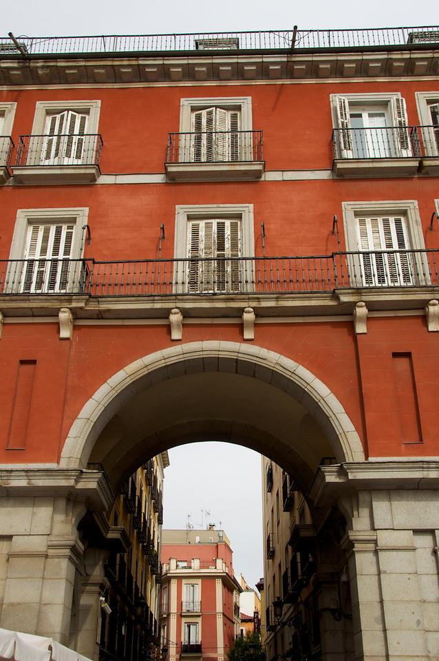 View Through Archway at Plaza Mayor