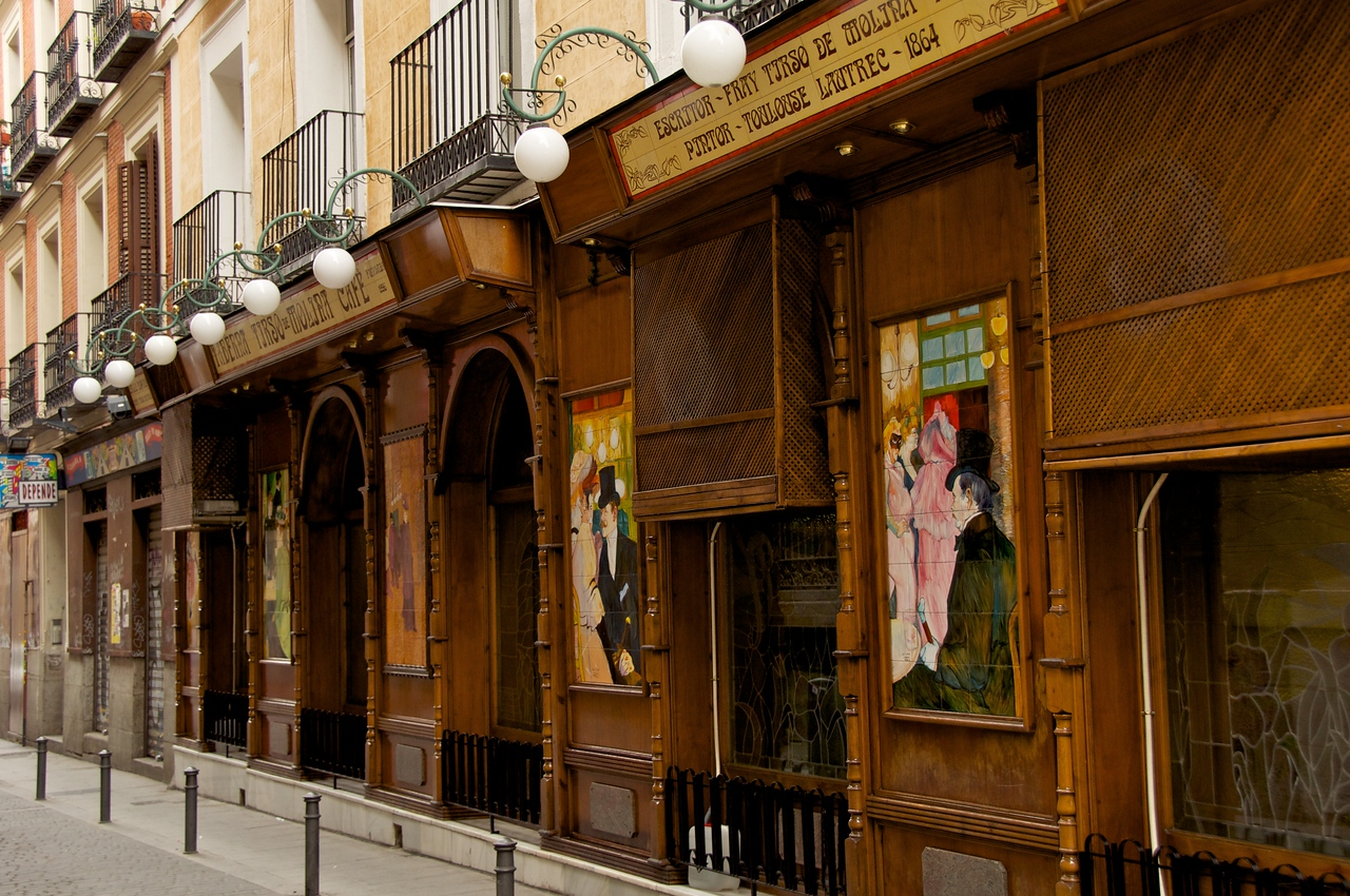 Side of Cafe…Spanish Toulouse Lautrec??