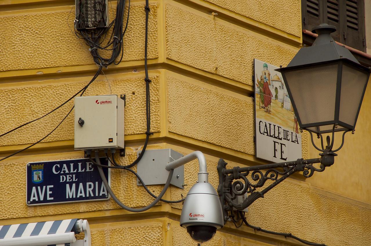 Street of Ave Maria #5 and Street of Faith (Fe) #6