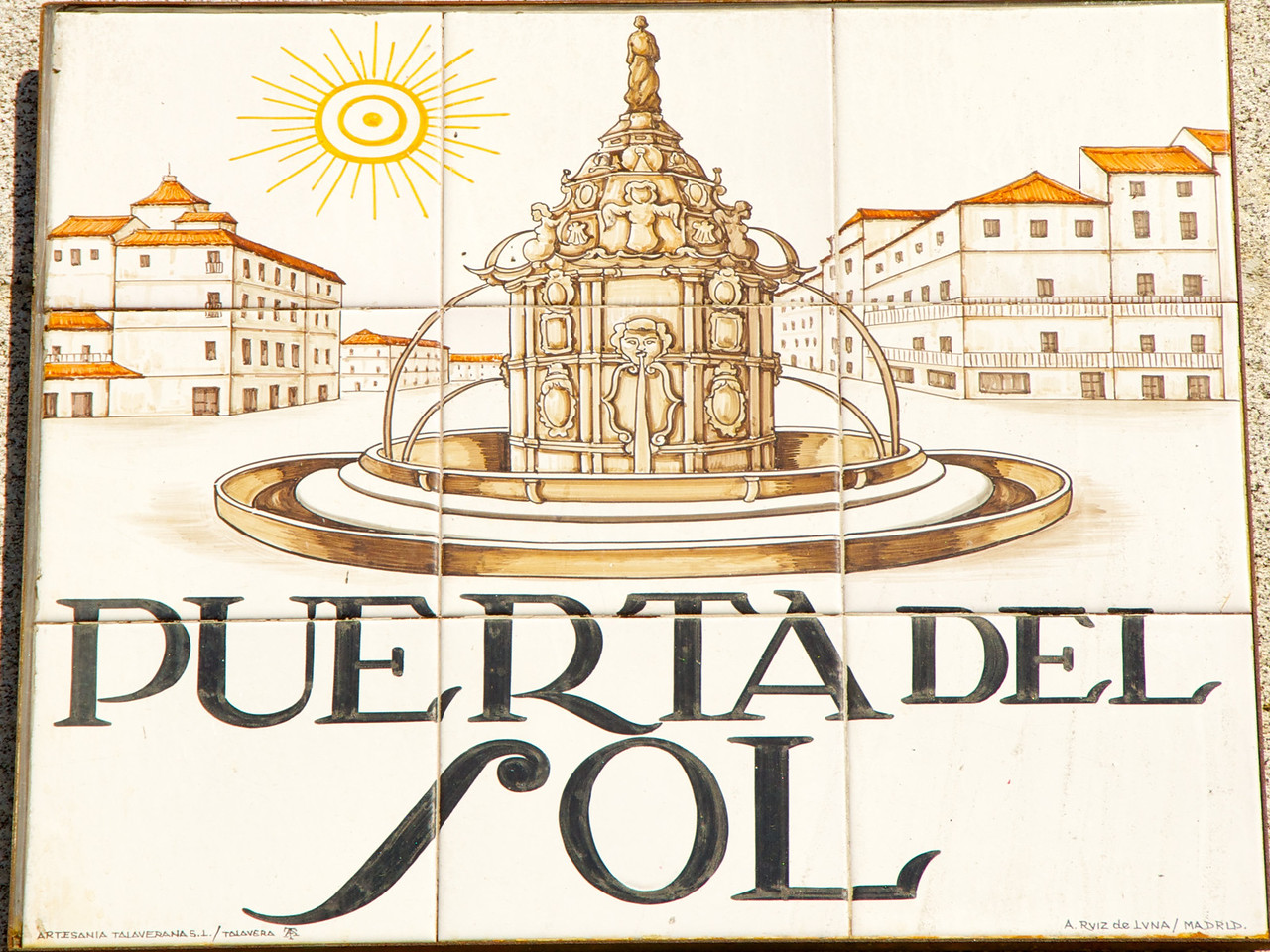 Tile Sign at Puerta Del Sol