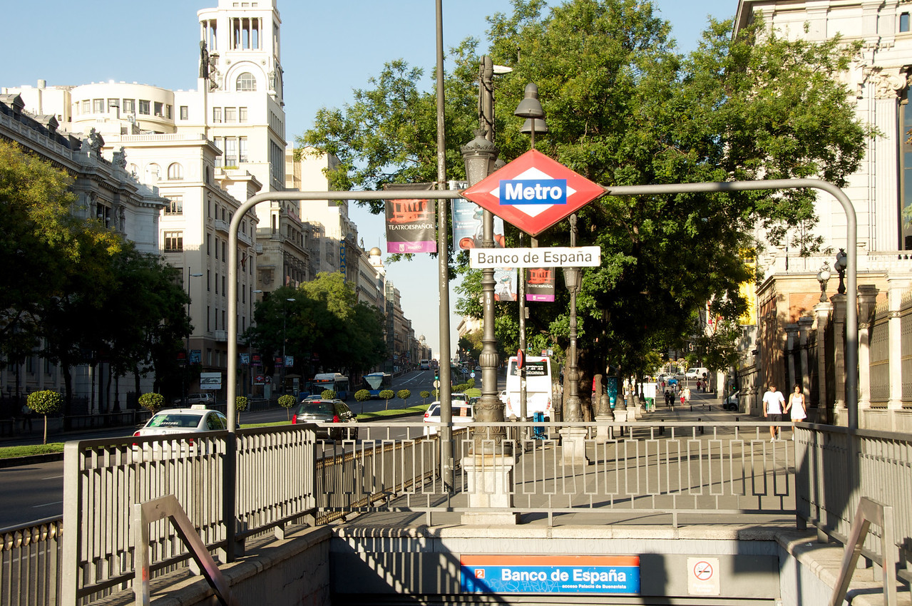 Madrid Subway Station…Banco de Espana Where I Tour Started