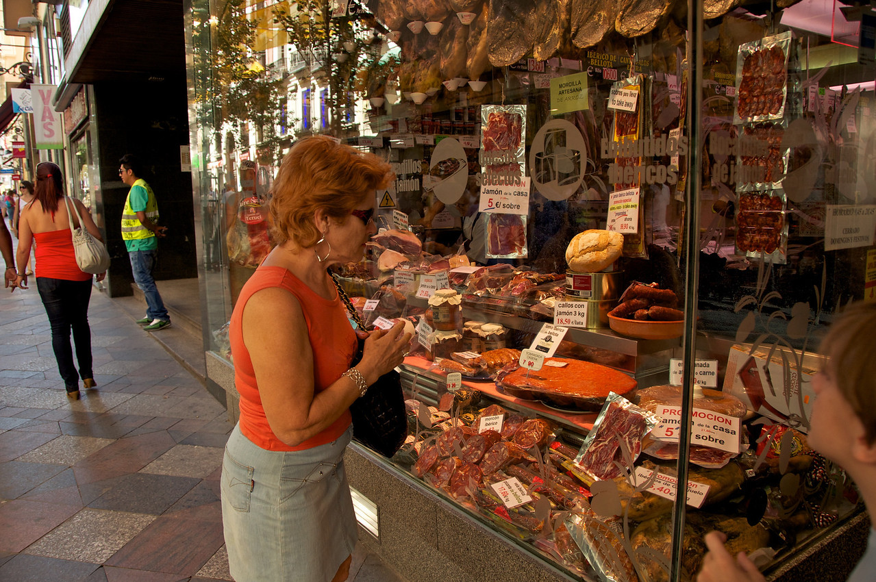 Meat Display on Other Side of The Door