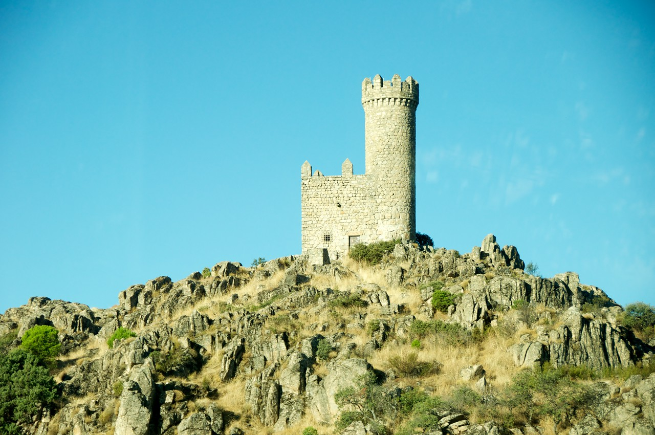 One of The Many Watch Towers Built by The Christian and Muslims During Their Conquests of The Land…Taken From The Bus