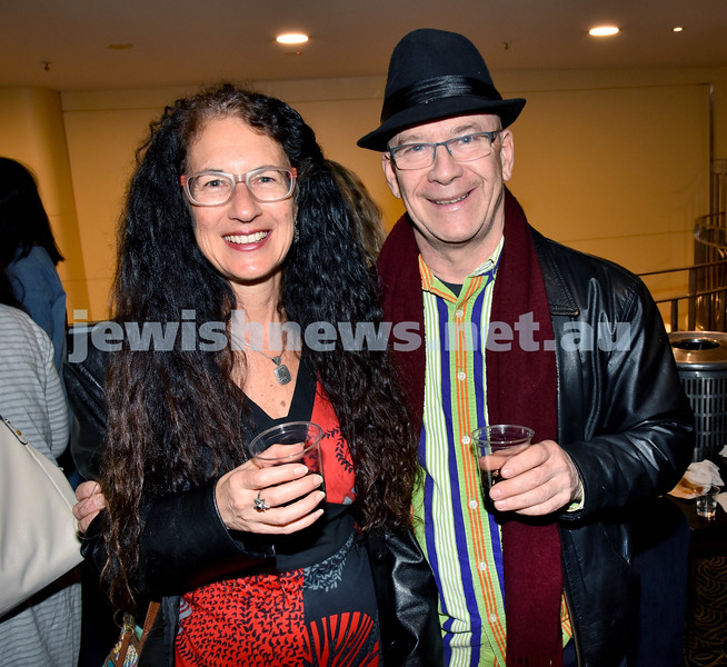 Israeli Film Festival at The Ritz Cinema in Randwick. Michelle Svenger (left), Steve Matthews. Pic Noel Kessel