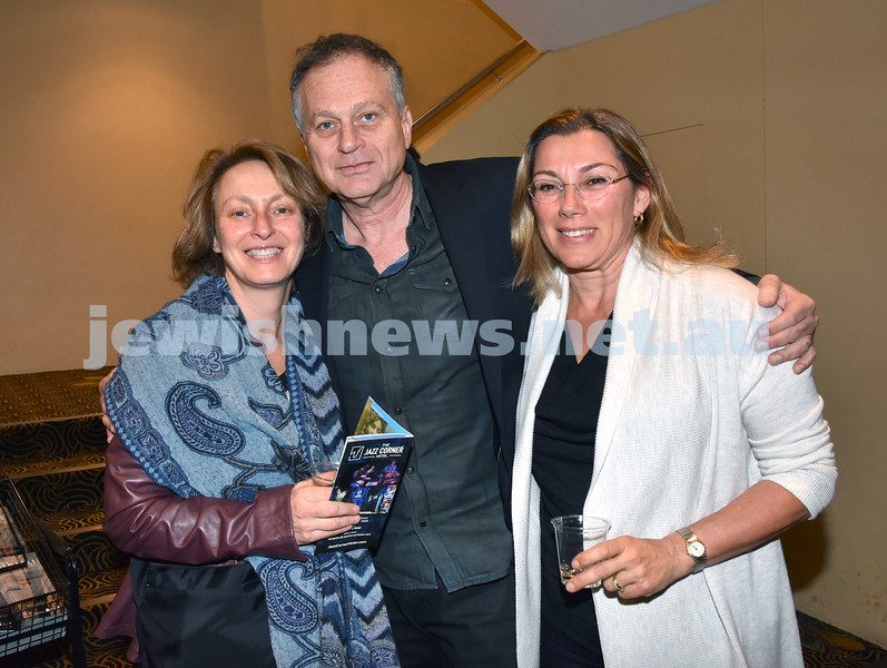 Israeli Film Festival at The Ritz Cinema in Randwick. From left: Muriel Ginges, Philip Foxman, Daniella Koren. Pic Noel Kessel
