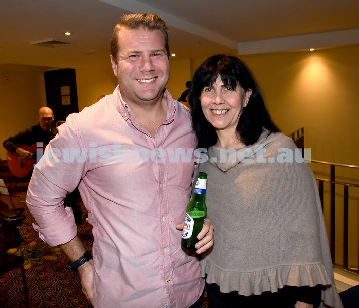 Israeli Film Festival at The Ritz Cinema in Randwick. Anthony Dawson (left), Sharon Leiser. Pic Noel Kessel