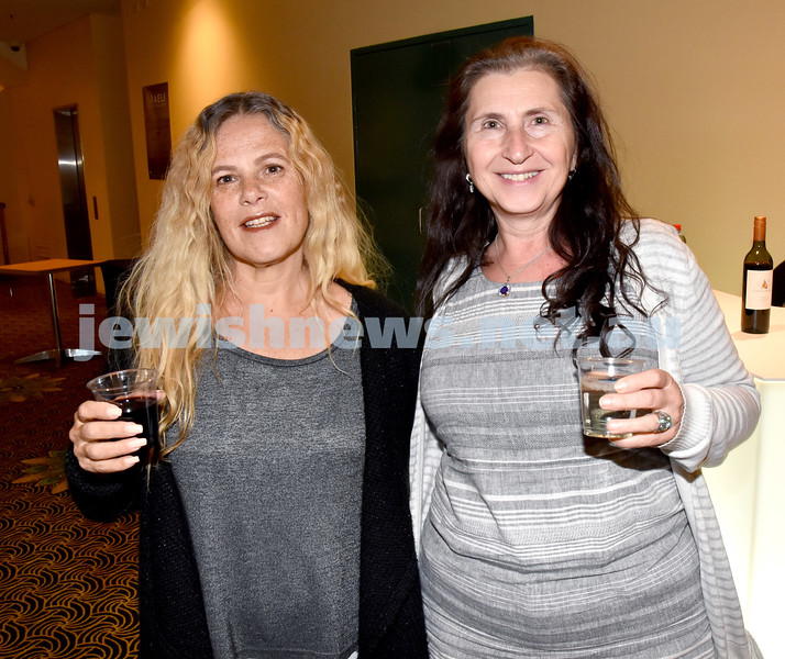 Israeli Film Festival at The Ritz Cinema in Randwick. Dalia Sharon (left), Rachel Landrum. Pic Noel Kessel