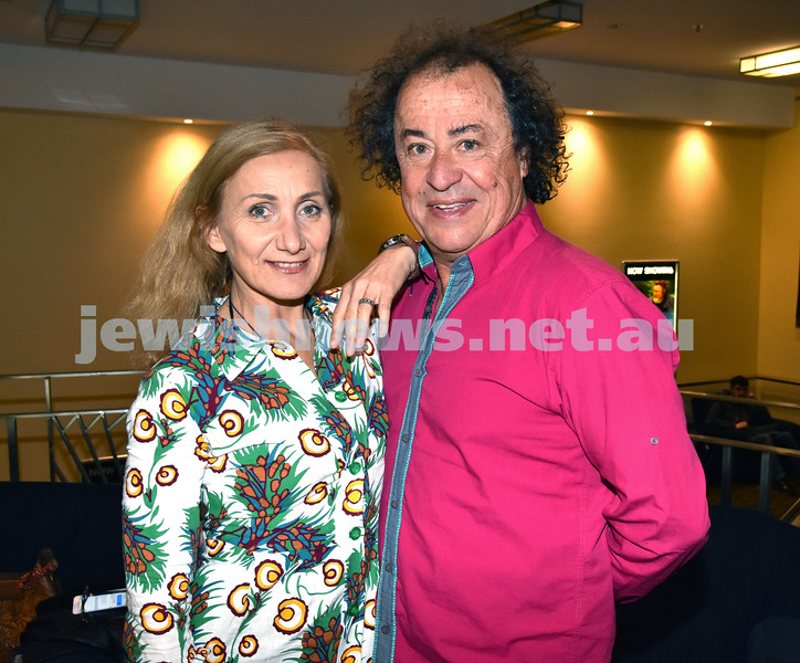 Israeli Film Festival at The Ritz Cinema in Randwick. Deborah Leiser-Moore and Richard Moore. Pic Noel Kessel
