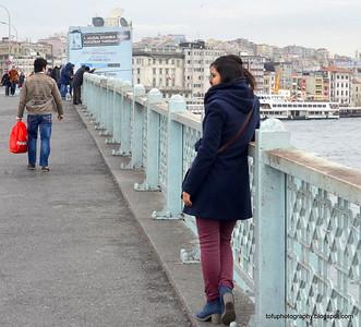 Galata Bridge and Tower, Istanbul - January 2014