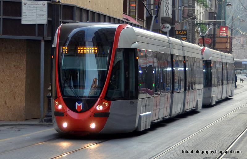 Tram in Istanbul, Turkey, in January 2014