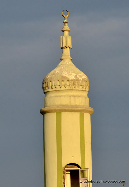 Mosque minaret in Istanbul, Turkey, in January 2014