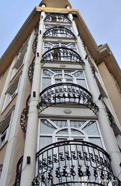 An apartment or hotel building in Istanbul, Turkey, in January 2014