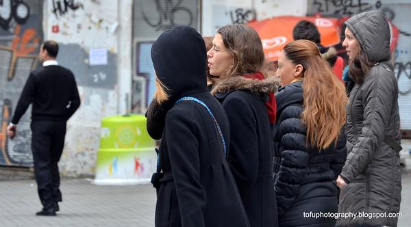 Walking in İstiklâl Caddesi (Independence Avenue), Istanbul - January 2014