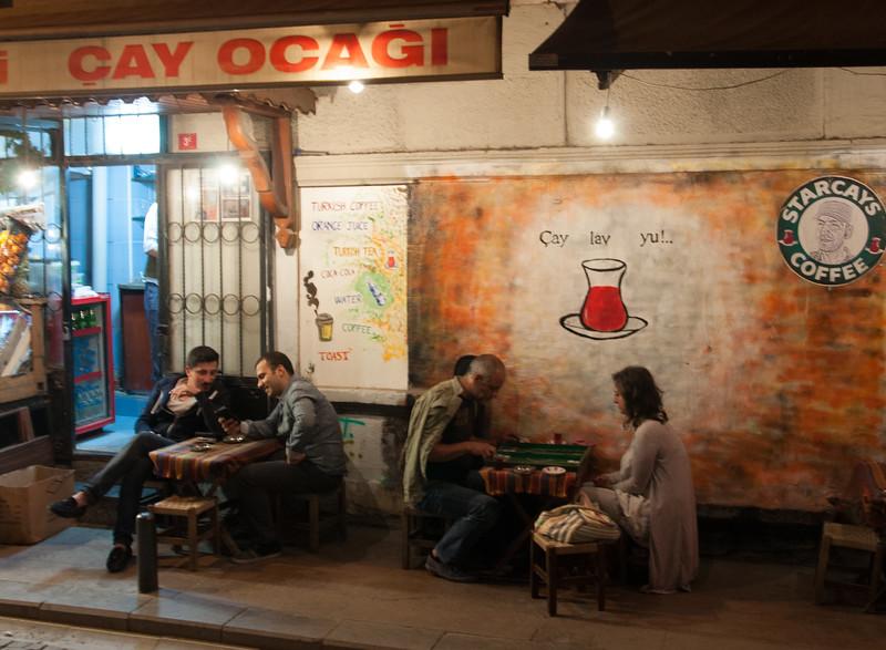 Nightime scene in Beyaglu