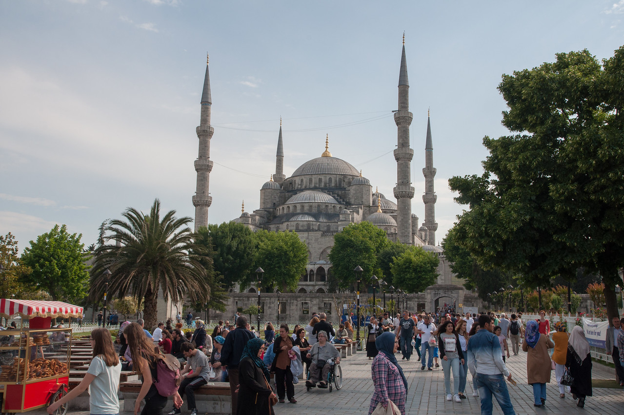 The Blue Mosque in the Sultan Ahmet district of Istanbul (the oldest part of the city)