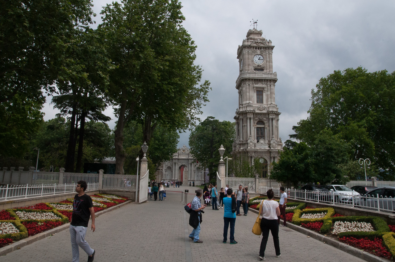 The clock tower of the Dolmabahce Palace