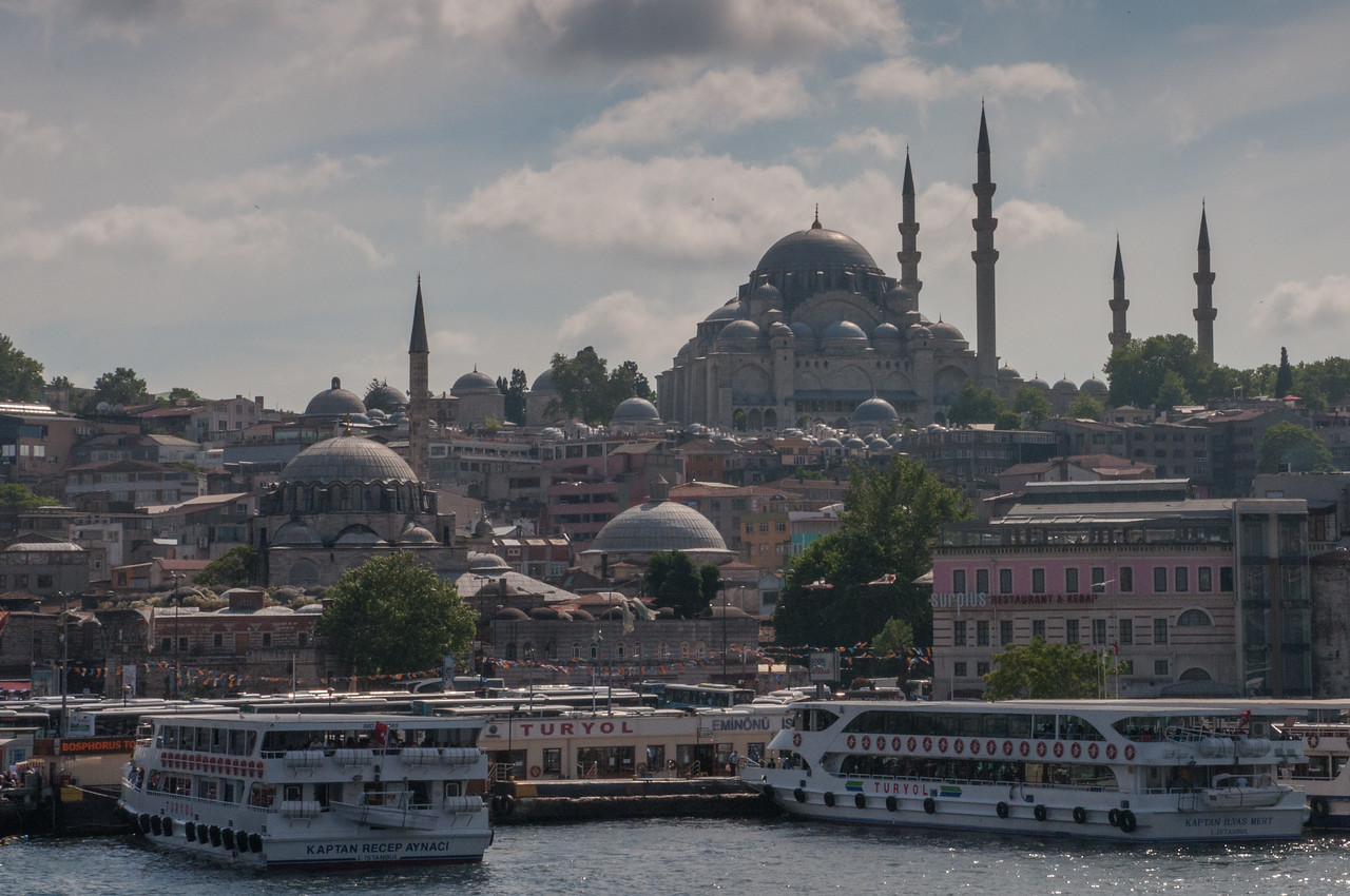 The Magnificent Suleiman Mosque Dominates the Skyline above the Golden Horn