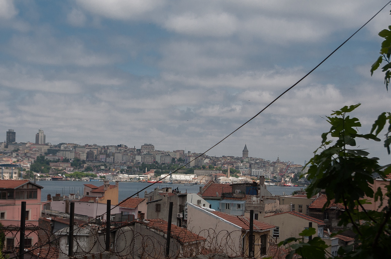 Looking from Fener across the Golden Horn to the Galata Tower